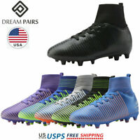 DREAM PAIRS Kids Soccer Shoes Girls Boys Athletic Outdoor Football Soccer Cleats