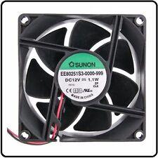 12V Fan Sunon 80x80x25mm 80mm 8cm Cooling Fan DC12V 1.1W Quality Electrics