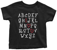 I Heart You Alphabet Toddler T-Shirt Cute Valentine's Day ABC Gift