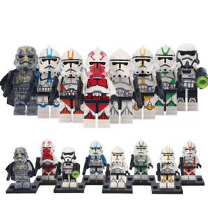 8Pcs Clone Trooper Army Military Star Wars Lego Moc Minifigure Toys