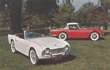 1961-65 TRIUMPH TR-4 Sports Car Convertible & Hardtop USA Advertising Postcard