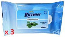 X 3 Ruvenor pulizia salviettine umidificate for emorroidi( 20 in conf. da)