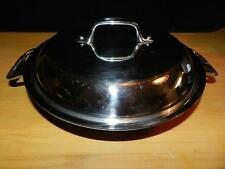 """ALL CLAD Stainless Steel Tri-Ply 10"""" 2 Qt BRAISER Sauteuse PAN w/ DOMED LID"""