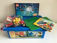 Lego 1.3 kg Bundle Bricks Windows Bases Wheels In Plastic Box & Lego Set 40253