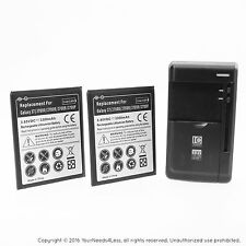 2 Replacement Batteries for Samsung Galaxy J7 LTE J700M Net10 plus charger