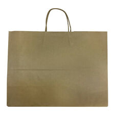100 Pc 16 Vogue Shopping Bags Brown Kraft Paper Recycled Retail Supplies