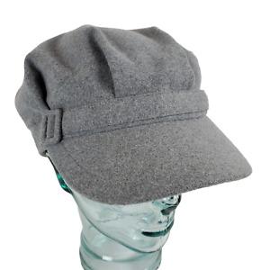 San Diego Hat Company Womens Cadet Wool Blend Newsboy Cap One Size Gray