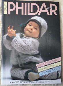 Phildar Baby Classic French Design Knitting Patterns Vintage Magazine No. 135