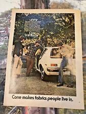 levi strauss cone corduroy jeans slacks advert playboy usa magazine advert 60s