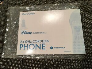User's Guide/Manual for Only Motorola Disney Mickey Mouse Cordless Phone