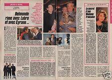 Coupure de presse Clipping 1989 Jean Paul Belmondo & Philippe Labro (2 pages)