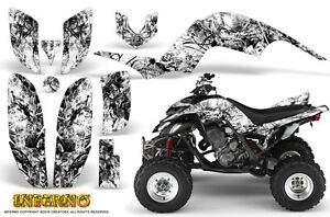 YAMAHA RAPTOR 660 GRAPHICS KIT CREATORX DECALS STICKERS INFERNO WHITE