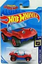 Hot Wheels 2019 Hw Pantalla Tiempo Spider-Mobile (Rojo / Azul) #146