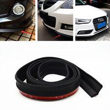 8.2ft Car SUV Black Rubber Lip Skirt Protector Front Bumper Spoiler Side Splitte