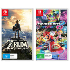 The Legend of Zelda: Breath of the Wild & Mario Kart 8 Deluxe Switch Game NEW