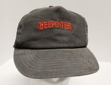 Vintage Beefeater Rum Corduroy Snapback Hat Cap Made in USA