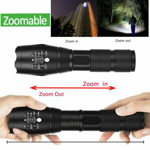5Mode Tactical Light Outdoor 900000LM LED T6 Lamp Zoom Flashlight Camp Torch