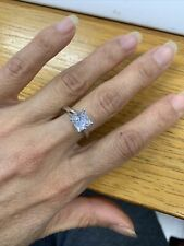 Engagement Ring Sterling Silver Size 7 2 Carat Princess Cut Cubic Zirconia