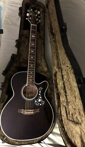 Takamine GN75CE acoustic electric guitar, Trans Black w/Gator Hard Shell Case