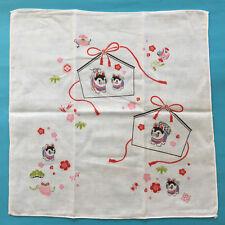F/S Cute Kawaii Animal of Year 2018 Dog Gauze Cloth Handkerchief made in Japan