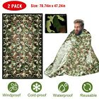 2PCS Camouflage Emergency Sleeping Bag Waterproof Survival Camping Sleeping Bag