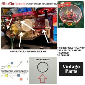 Mr Christmas Stanley Steamer -REPLACEMENT PART - BELT KIT (unit not for sale)