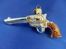 Western Revolver Gun Sports Old World Christmas Glas Ornament Glass NWT 36196