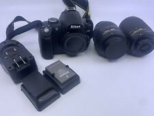 Nikon d5000 Digital Camera W/ 18-55mm And 55-200mm Lenses And Accessories