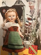 1958 Dolls of France traditional costumes crochet booklet French doll clothing