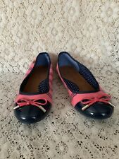 106f24e7cb2e4 Tommy Hilfiger Mary Jane Flats Size 5 Alyssa Pink Sequined Patent Leather  Toe
