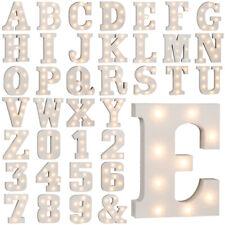 Beleuchtete Holz Buchstaben Zeichen Zahlen LED Lichtbuchstaben Alphabet 16 cm