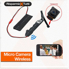 MICROCAMERA SPIA WIFI HD SPY CAMERA P2P TELECAMERA MICRO DETECTION NASCOSTA