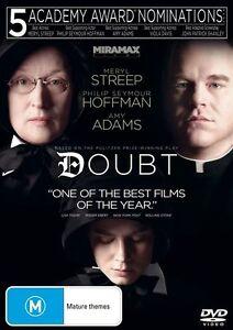 Doubt (DVD 2009) REG 4 AUST Drama Mystery, Meryl Streep