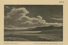 ANTIQUE DARK SKIES SKY CLOUD DESOLATE LANDSCAPE ARTIST JOSEPH KNIGHT SMALL PRINT