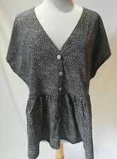 NWT Next Women Ladies Short Sleeve Button Up Flare Tops T-Shirts Size 22 UK