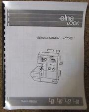 Elna Lock L1 L2 L4 L5 Serger Overlock Adjusters Service Repair Manual Book
