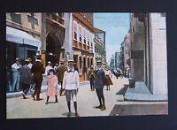 Unused Vintage Postcard - c1912 GIBRALTAR - Waterport Street with Post Office