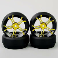 4Pcs Car Tires RC 1:10 Hard Drift Tires12mm Hex Wheel Rims For HSP Model Car
