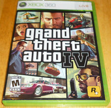 GRAND THEFT AUTO IV 4 MICROSOFT XBOX 360 GAME COMPLETE GTA w/MAP