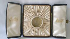 VINTAGE GILDED LEATHER BOX/CASE/DISPLAY FOR POCKET/WATCH LOCKET FATTORINI & SONS