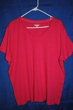 Women's ST. JOHN'S BAY Dark Pink Knit Top Size 2X Classic Tee