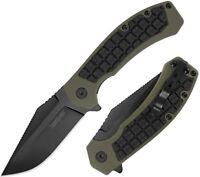 "Kershaw Faultline Folding Kniife 3"" 8Cr13MoV Stainless Steel Blade GRN Handle"