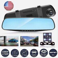 1080P HD Dual Lens Car DVR LCD Mirror Monitor Dash Cam Reverse* Rear View Camera
