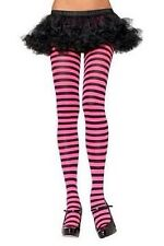 Leg Avenue Striped Tights Halloween Costume Rave Sexy NEW Pink Black