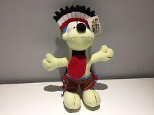Genuine Garfield Odie Red Indian Teddy Giocattolo Morbido 30 cm 12 in (ca. 30.48 cm) - NUOVO CON ETICHETTE
