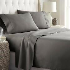 HC Collection Platinum 1800 Queen Bedding Set Gray Deep Pockets Microfiber Soft