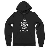Mens Keep Calm And Eat Bacon Funny Bacon Lover Shirt Hoodie Meat Pork Foodie