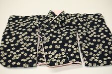 1/4 Bjd Msd Short Kimono top - indigo beige sakura pink lining