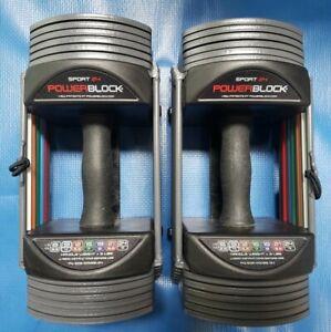 PowerBlock Sport 24 Adjustable Dumbbells Set - 3-24 lbs each - PAIR