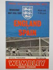 England V Spain - F.A. International Match Programme 1967.Empire Stadium Wembley